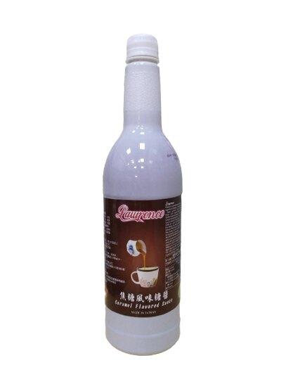 勞倫斯 焦糖醬 焦糖風味糖醬 980ml/罐 焦糖裝飾醬-良鎂咖啡精品館