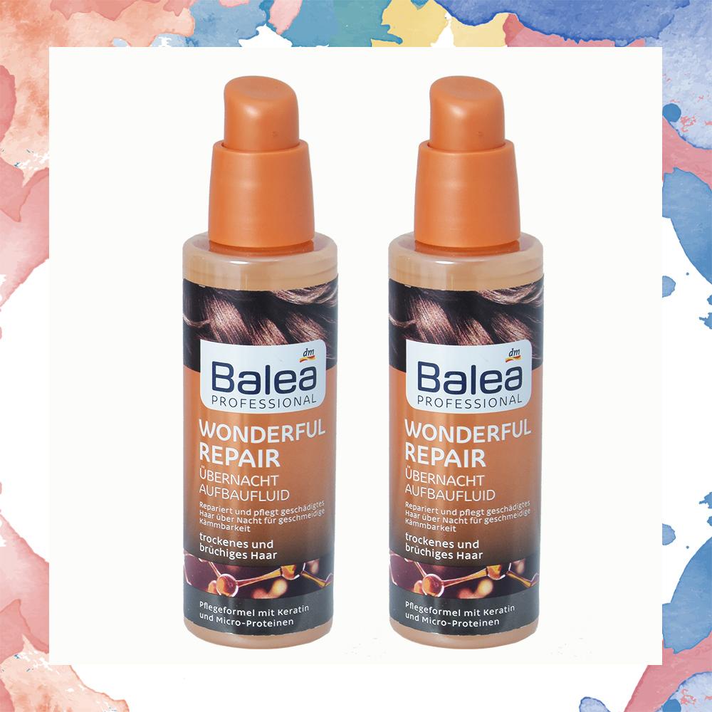 超值組合2入-Balea摩洛哥夜間修護專用精華-護髮油(橘)德國原裝