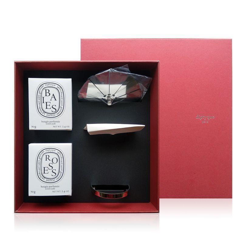 Diptyque 限量旋轉燭罩禮盒 70gx2 (漿果、玫瑰) 2021海外限定 航空版