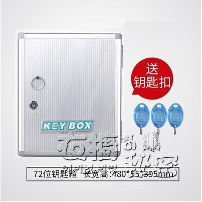 房源中介鋁合金鑰匙櫃壁掛式48位鑰匙箱汽車鑰匙管理箱鎖匙收納盒