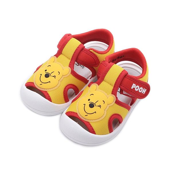 DISNEY 小熊維尼護趾寶寶涼鞋 黃 中小童鞋