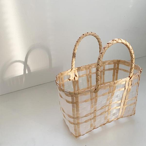 草編包 cosy zing 包包2021新款潮夏季草編織包女海邊沙灘手提菜籃子包  美物 99免運