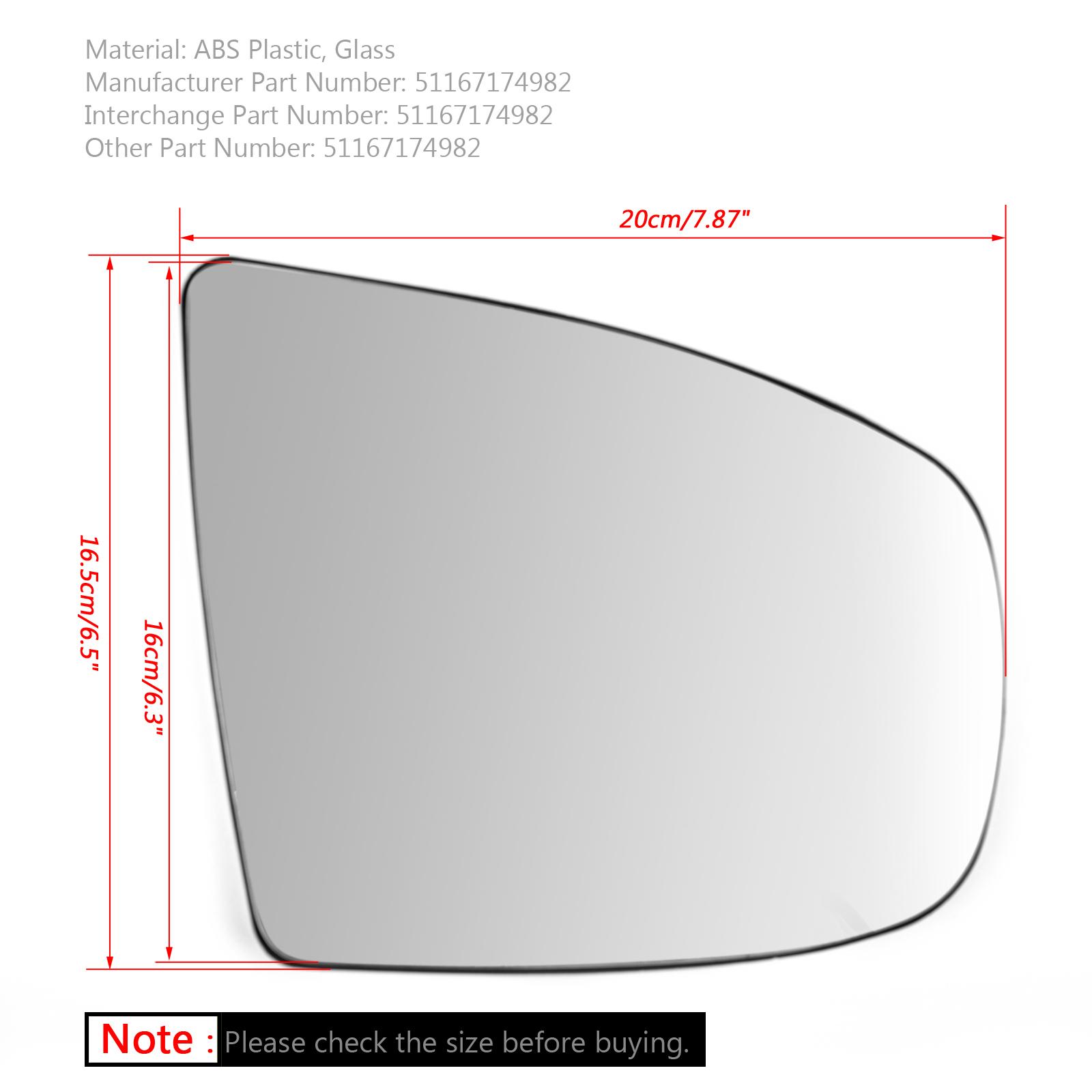 BMW X5 X6 E70 E71 E72 2008-2014專用照後鏡鏡片有加熱功能右側-極限超快感