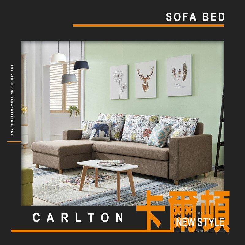 【MUNA】CARLTON 卡爾頓咖啡色功能沙發床