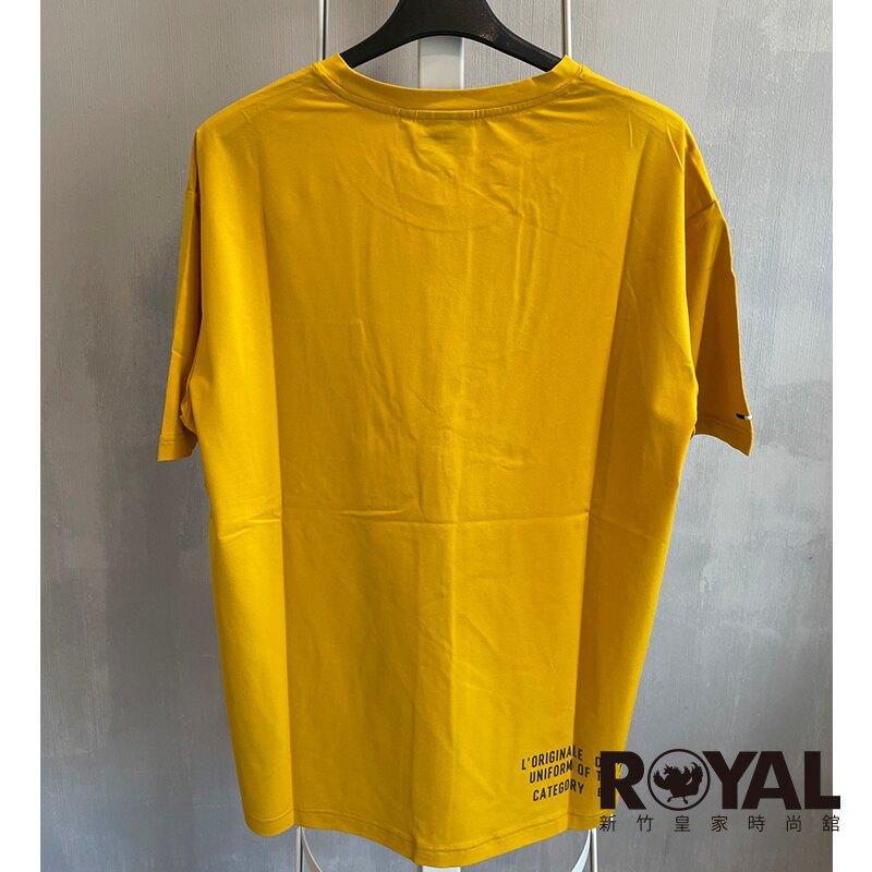 【滿額↘領券再折$150】Palladium 黃色 棉質 短袖 上衣 男女款 NO.H3346【新竹皇家 105045-701】