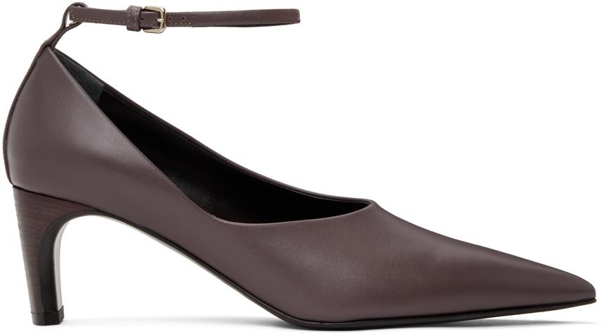 Jil Sander 紫色踝带中跟鞋