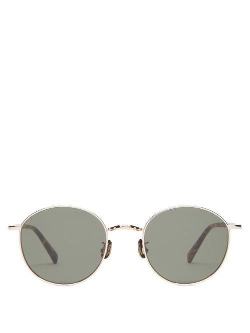 817 Blanc Lnt - Round Titanium Sunglasses - Mens - Tortoiseshell