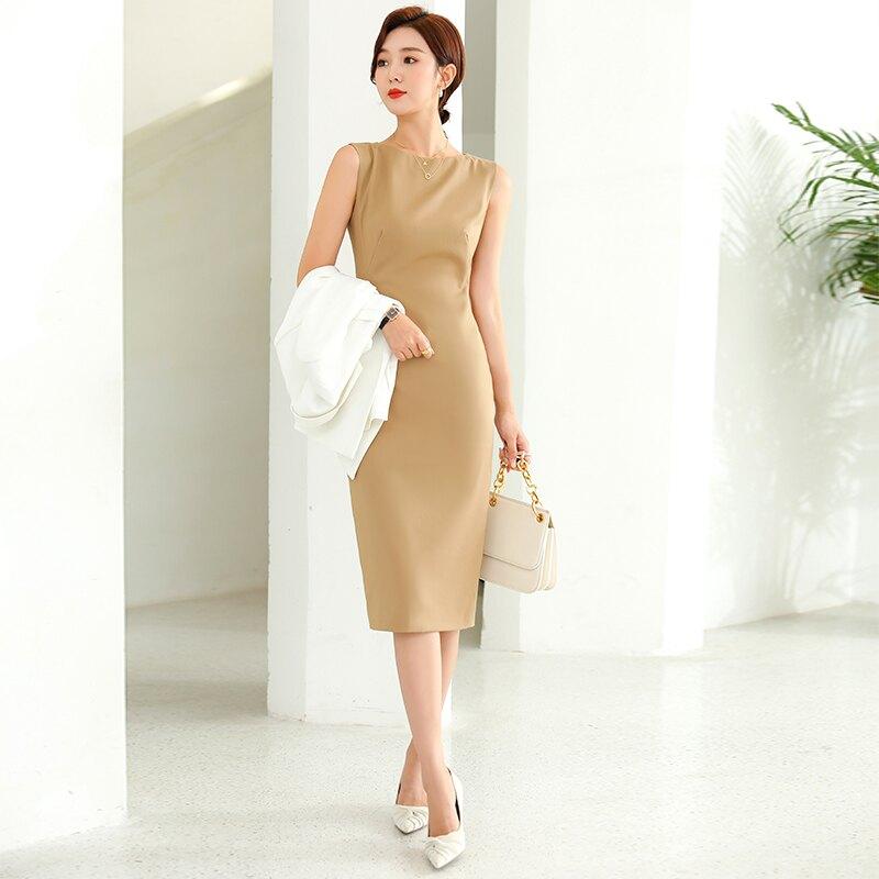 女神衣櫥必備  法式進口無袖洋裝  西裝  套裝   制服訂做   台灣發貨