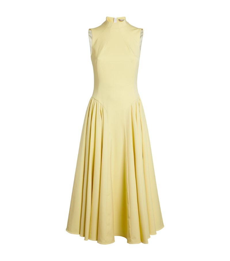 Emilia Wickstead Sleeveless Neville Midi Dress