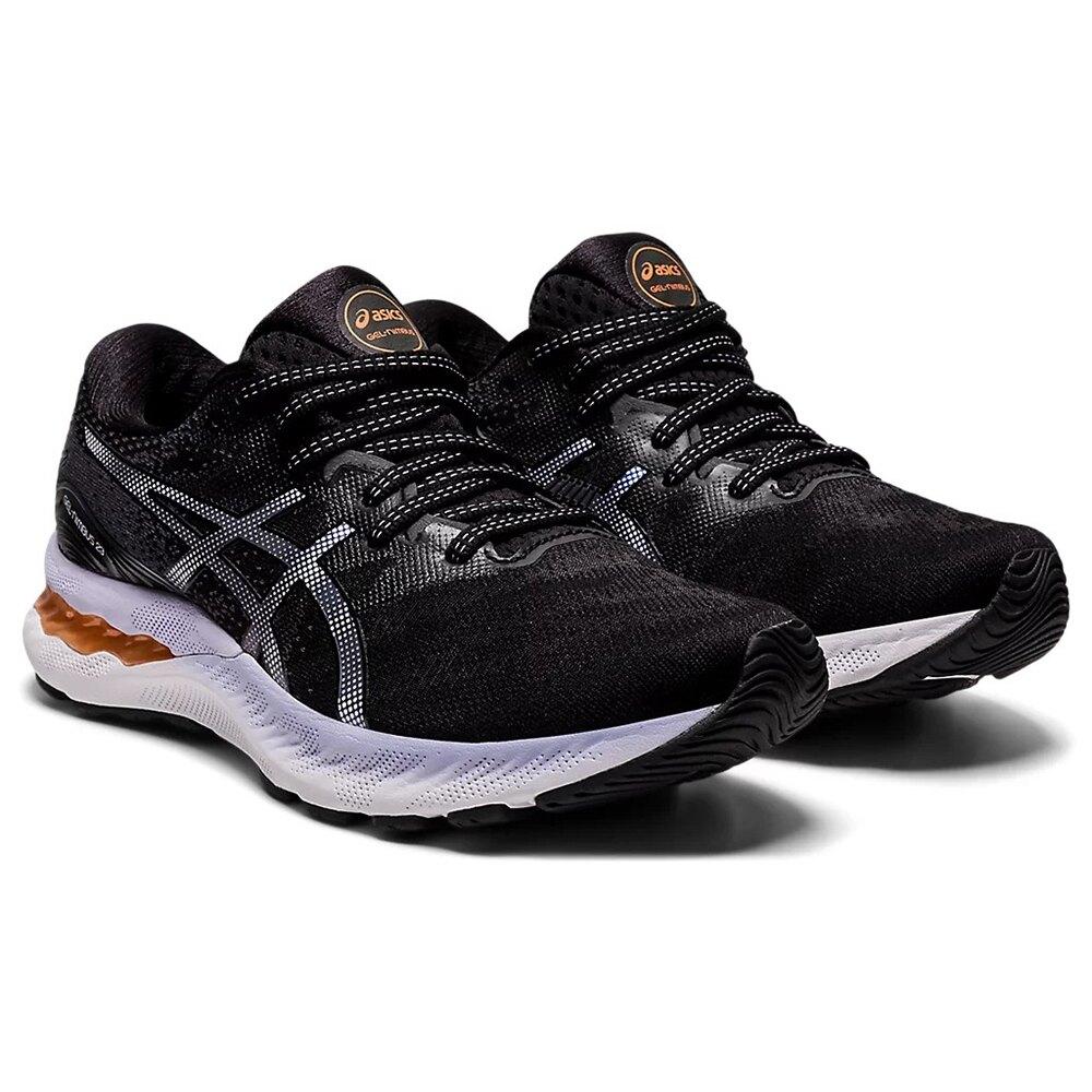 ASICS GEL-NIMBUS 23 一般楦 女慢跑鞋 緩衝型 黑紫 1012A885-003 21SS