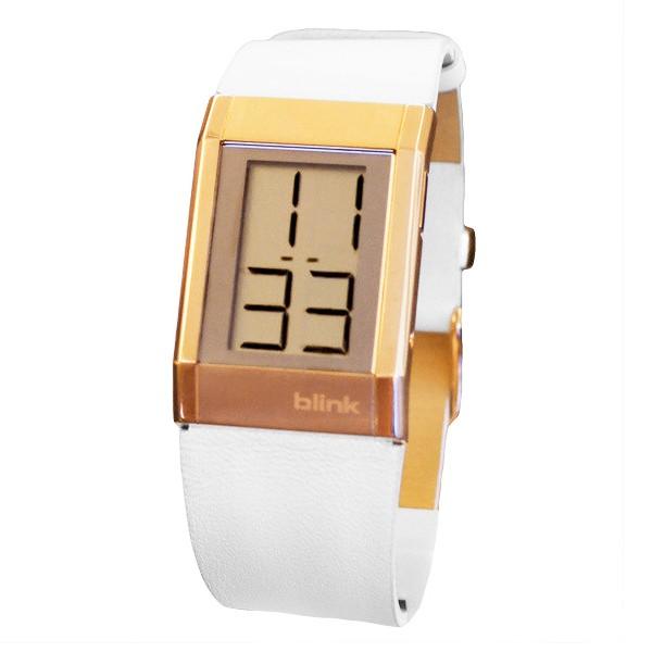 出清 JAGA 捷卡BLINK 玫瑰金耀眼個性風格皮帶電子錶(白) CA218