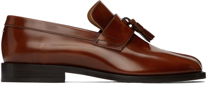 Maison Margiela 棕色 Tabi 乐福鞋
