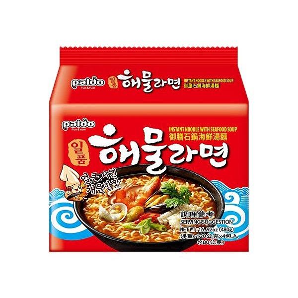 韓國 八道 Paldo 御膳石鍋海鮮湯麵(120gx4入)【小三美日】