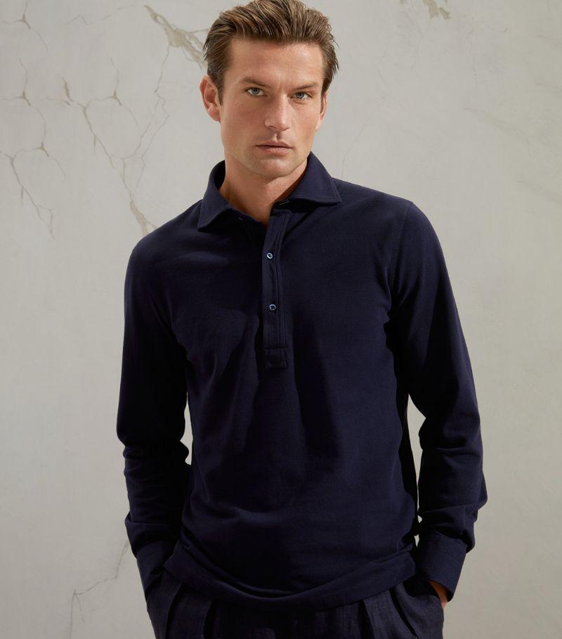 Brunello Cucinelli Long-Sleeved Polo Shirt