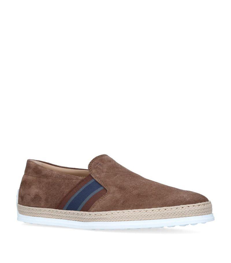 Tod'S Suede Raffia Skate Shoes