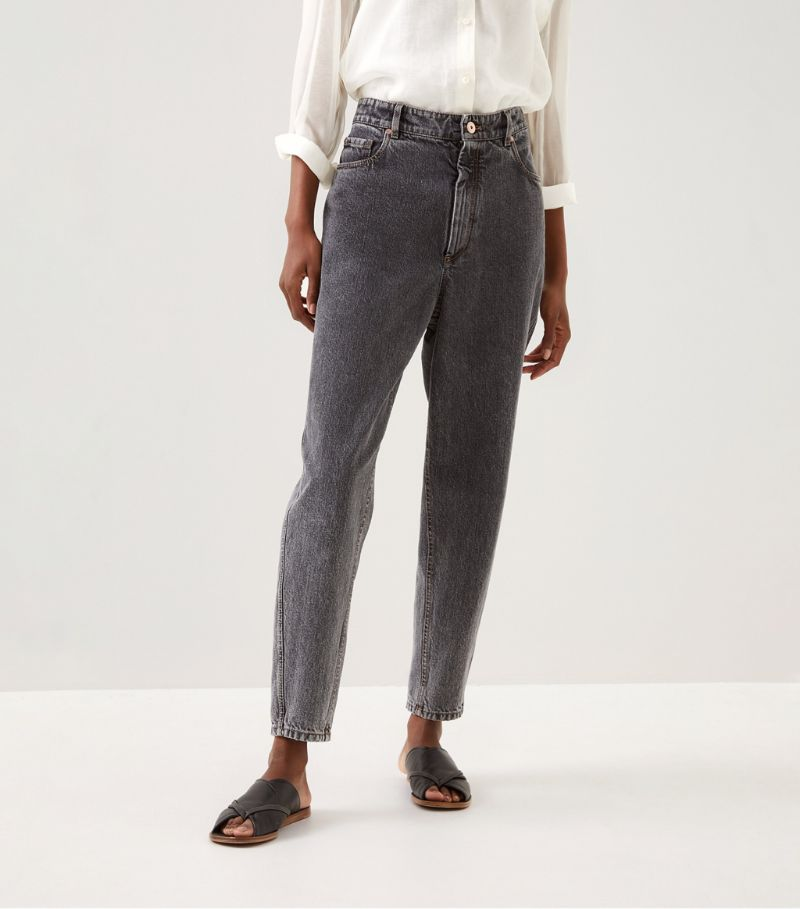 Brunello Cucinelli Tapered High-Rise Jeans