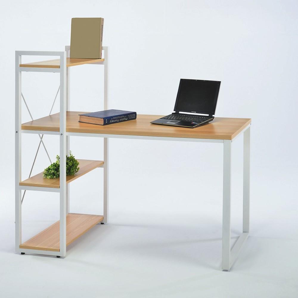 120cm書桌-k11-2061工業風工作桌 書櫃型書桌 書桌加書櫃 金滿屋