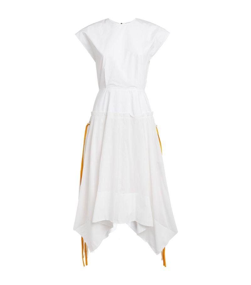 Jw Anderson Cotton Cap-Sleeve Midi Dress