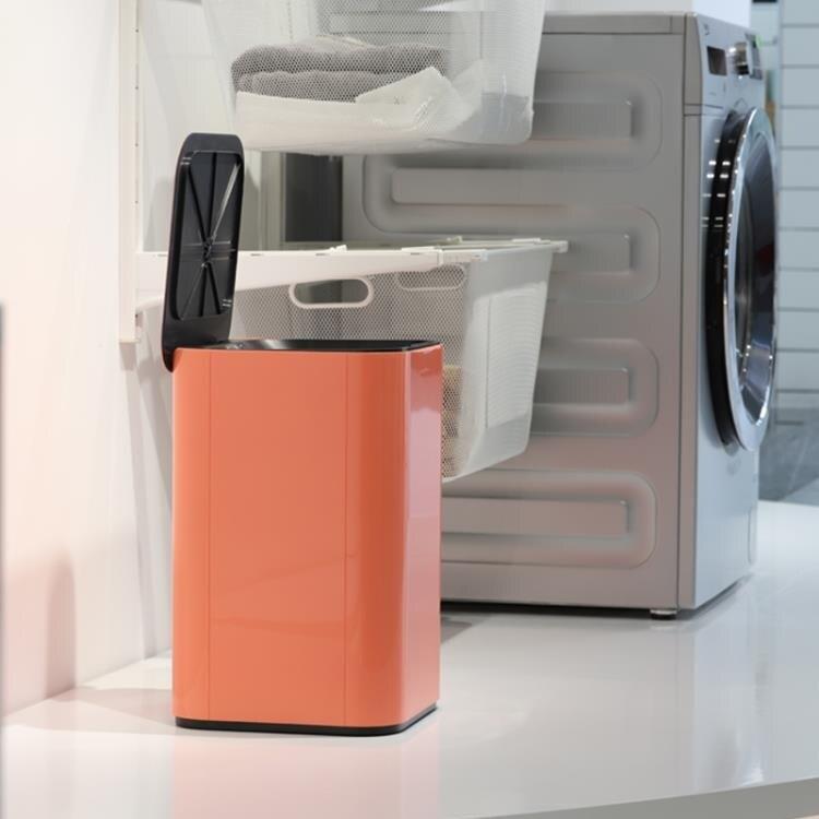 智慧垃圾桶 踢踢桶智慧感應簡約高顏值創意家用大號帶蓋客廳廚房輕奢垃圾桶 摩可美家