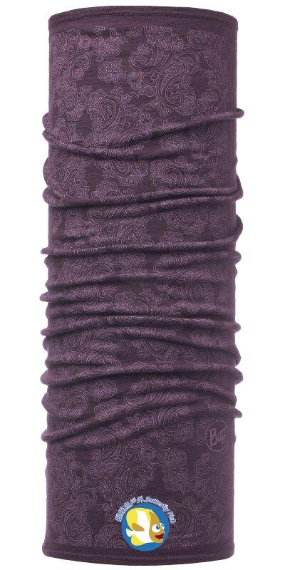 [ 西班牙製 BUFF ] POLAR WOOL 綻放莓紫 美麗諾 羊毛 頭巾;BF115398