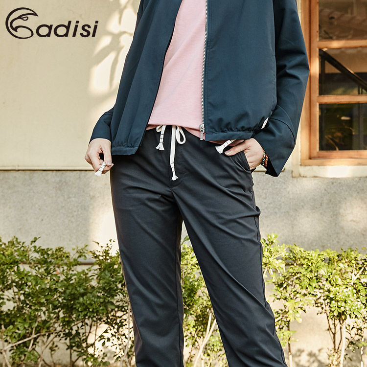 ADISI 女supplex平紋彈性透氣快乾休閒抽繩裸踝褲AP1911045 (S-2XL) / 城市綠洲 (輕量、彈性、吸濕快乾、高透氣、UPF40+)