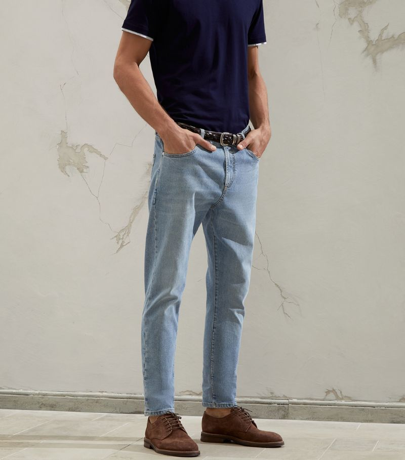 Brunello Cucinelli Straight Cropped Jeans