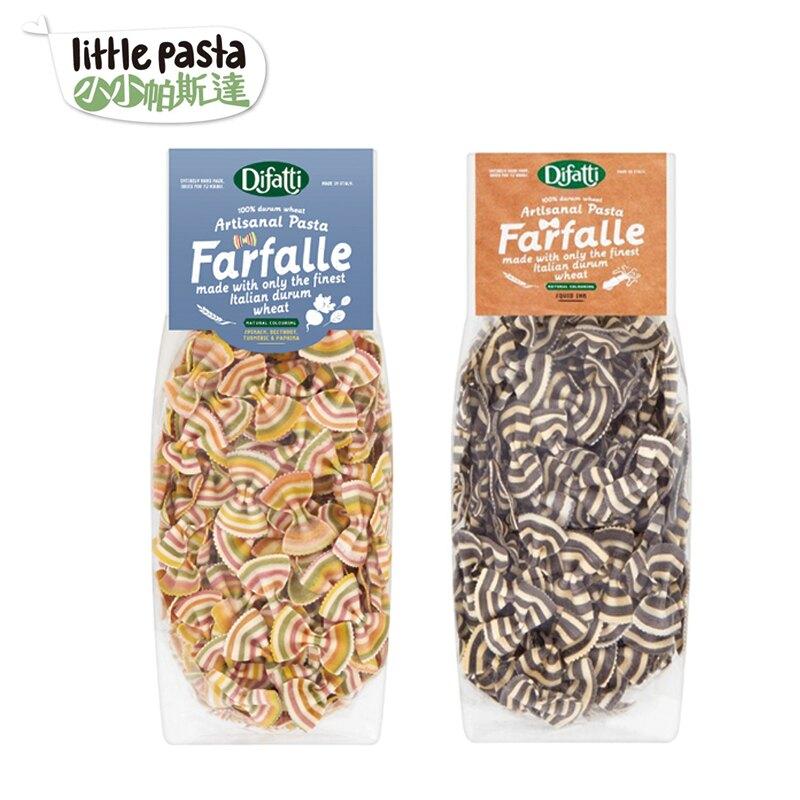 英國【little pasta小小帕斯達】蝴蝶結義大利麵12M+(彩虹蔬菜/墨魚)-米菲寶貝