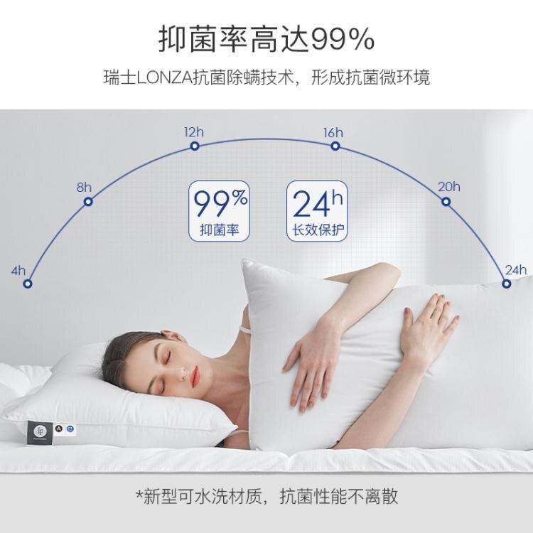 枕頭雙人枕芯一對裝成人家用頸椎男全棉助睡眠酒店整頭防螨 摩可美家