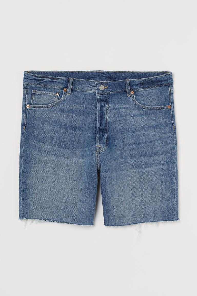 H & M - H & M+ 丹寧百慕達短褲 - 藍色