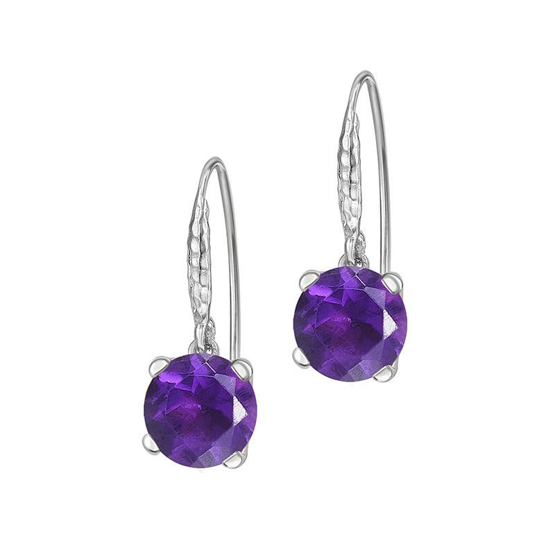 8mm Amethyst Orissa Drop Earrings
