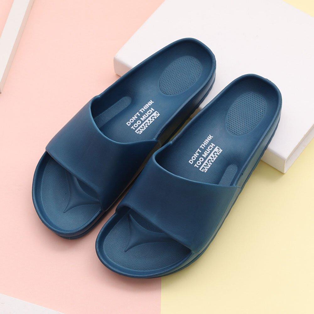 【333家居鞋館】Fun Plus+ 解憂紓壓★流線活力室外拖鞋-深藍色