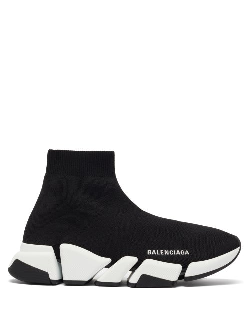 Balenciaga - Speed 2.0 Recycled-fibre Trainers - Womens - Black White