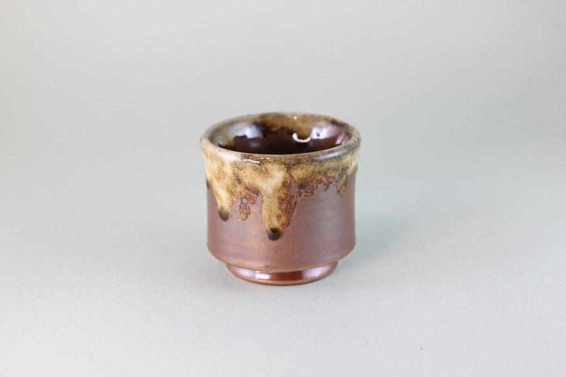流釉日式小茶杯 鶯歌名家葉敏祥柴燒作品