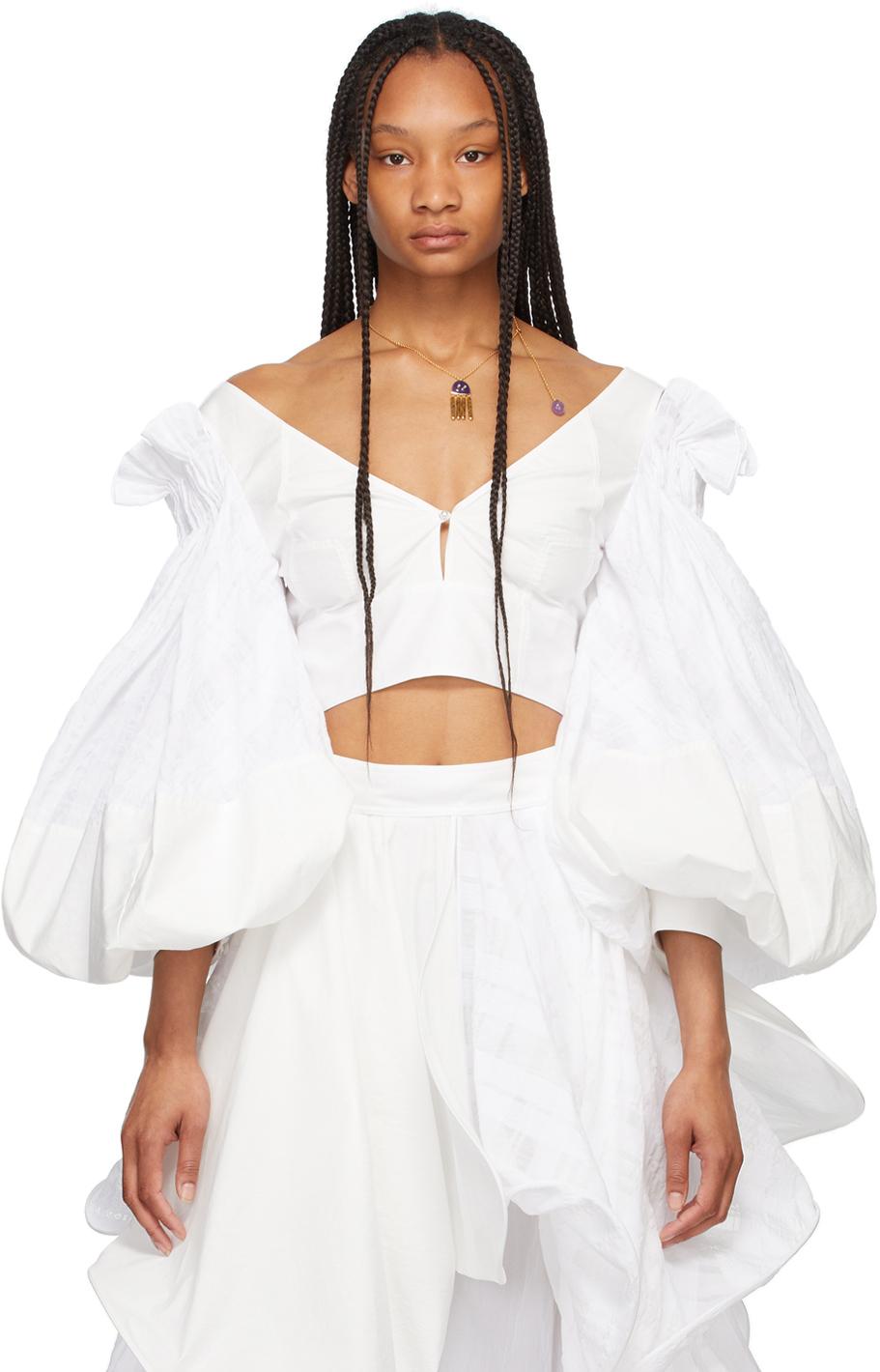 Loewe 白色灯笼袖上装