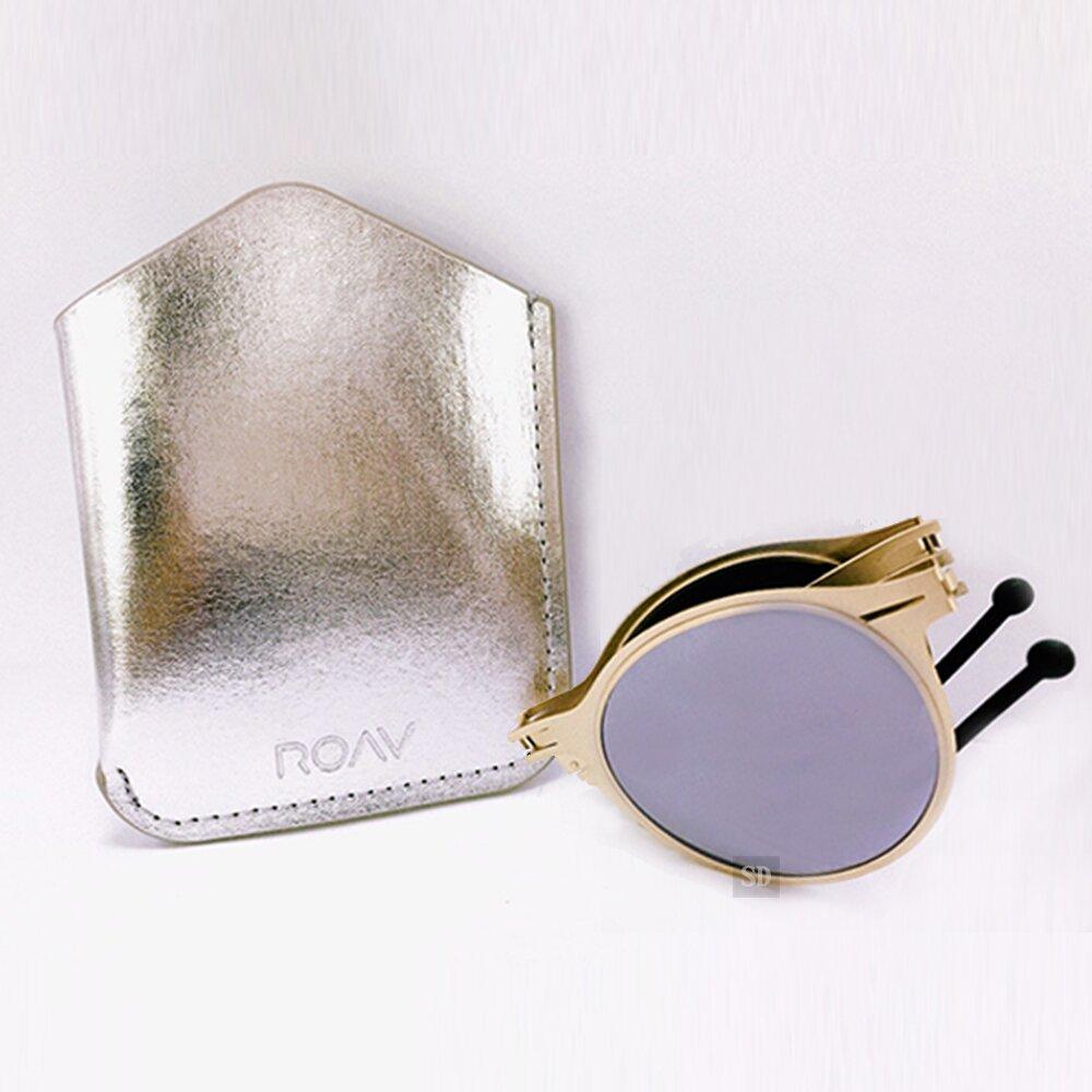 【ROAV】偏光太陽眼鏡 薄鋼折疊墨鏡 8103 C14.61 白水銀 淺金 圓框墨鏡 美國 52mm
