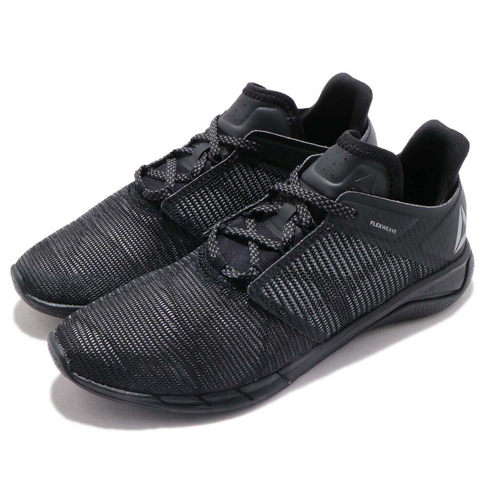 REEBOK 慢跑鞋 Fast Flexweave 運動 女鞋 輕量 透氣 舒適 避震 健身房 反光 黑 灰 [CN5622]