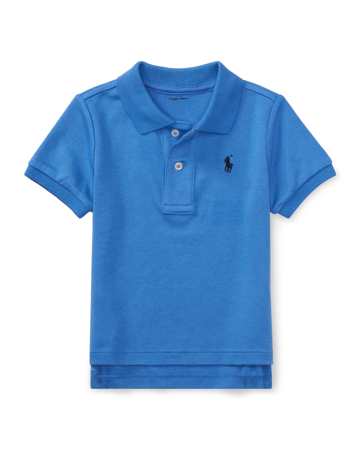 Interlock Polo Knit Shirt, Size 3-24 Months