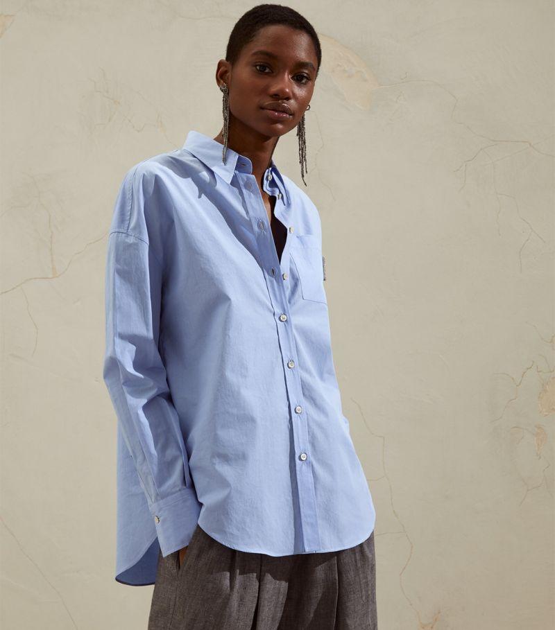 Brunello Cucinelli Cotton Monili-Pocket Shirt