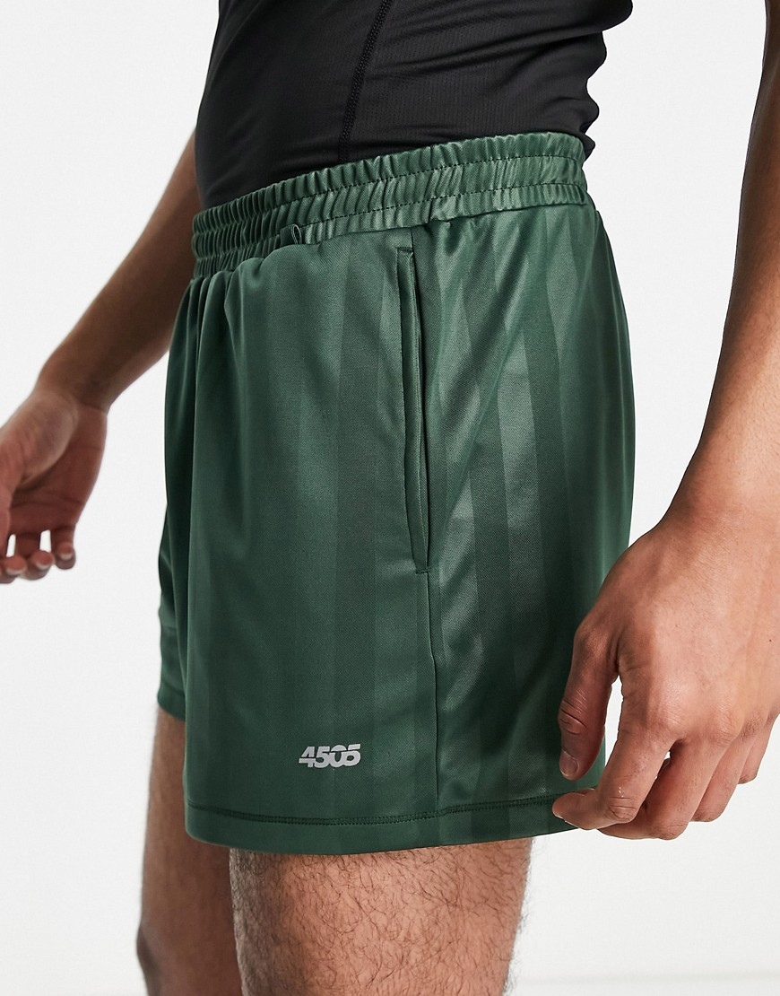 ASOS 4505 training shorts with retro stripe in green