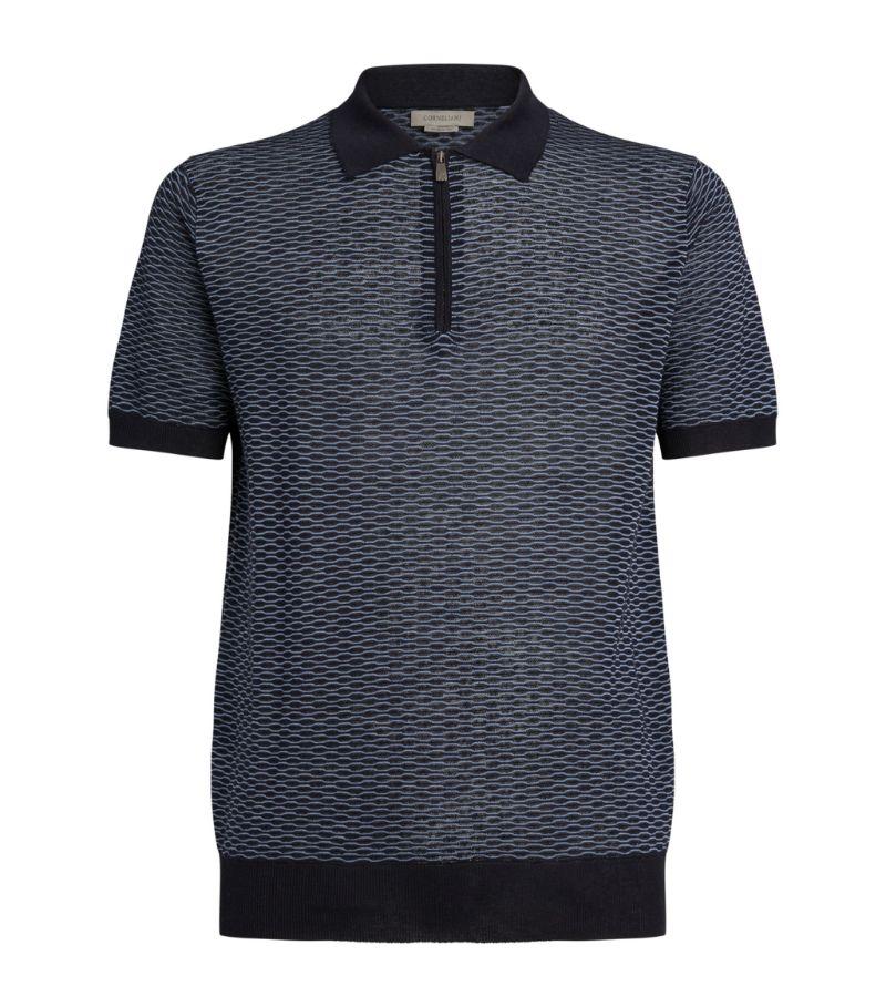 Corneliani Silk-Linen-Cotton Polo Shirt