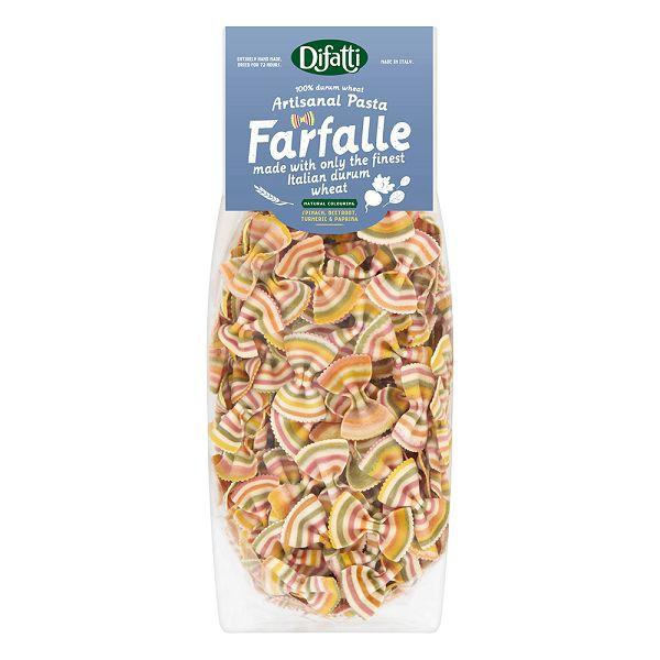 英國 little pasta 小小帕斯達 X Difatti 蝴蝶結造型義大利麵-彩虹蔬菜【麗兒采家】