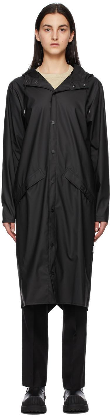 RAINS 黑色 Longer 大衣