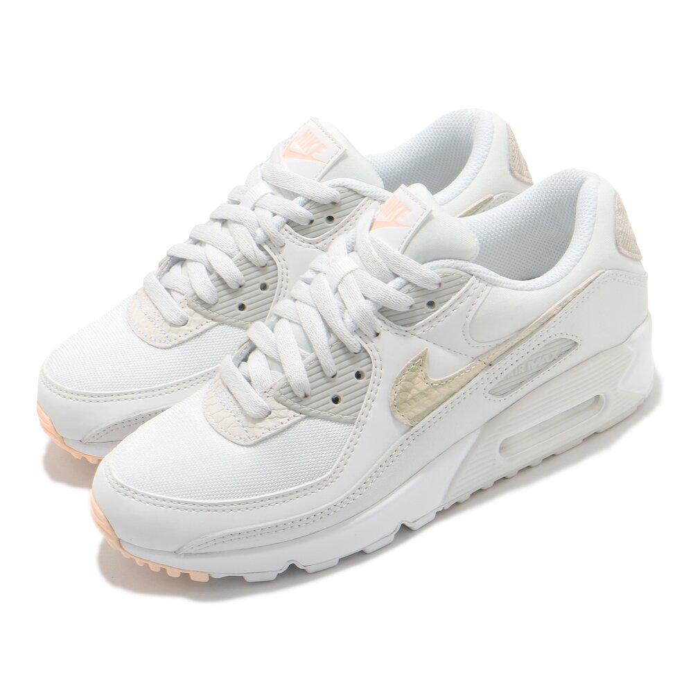 NIKE 休閒鞋 Air Max 90 SE 運動 女鞋 經典款 氣墊 舒適 簡約 球鞋 穿搭 白 灰 [CV8824-100]