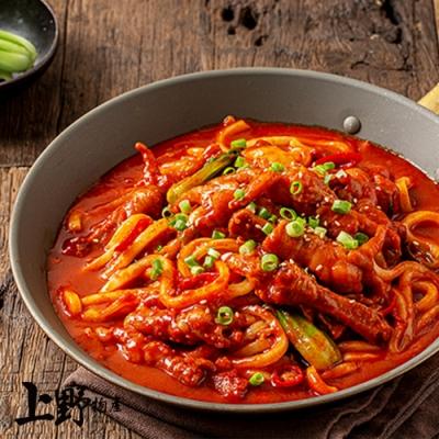 (滿899免運)【上野物產】韓式開胃辣豆瓣醬 炒麵(300g±10%/包)x1包