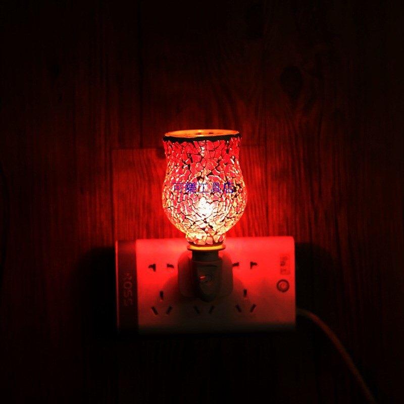融蠟燈 香薰蠟燭 蠟燭暖燈 融燭燈 香氛燈 蠟燭燈 1 廠家貨源馬賽克融蠟燈浪漫溫馨香薰燈創意去味香薰爐INS亞馬遜