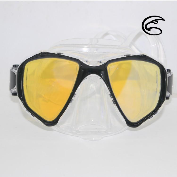 ADISI WM11 自由潛水雙眼抗反射面鏡 黑色