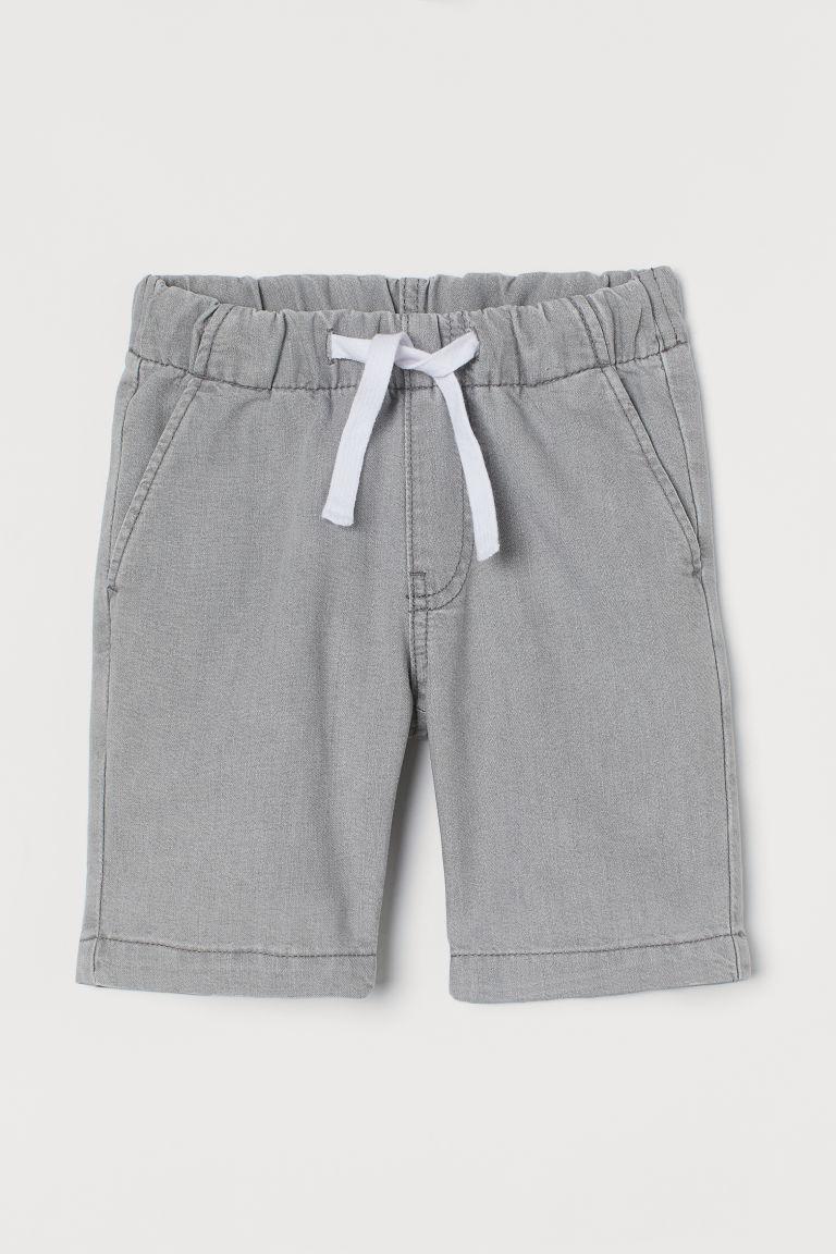 H & M - 斜紋短褲 - 灰色