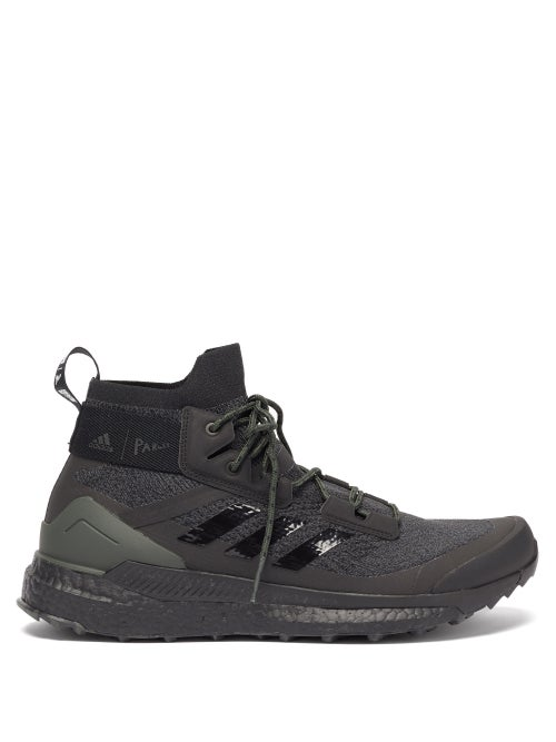 Adidas X Parley - Terrex Free Hiker High-top Recycled-fibre Trainers - Mens - Black Multi