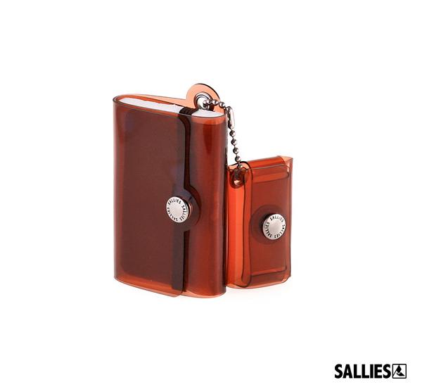 SALLIES Minimal Wallet PocketPal透視感迷你錢包(咖啡)