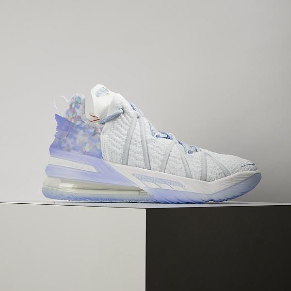 Nike Lebron XVIII EP 男 白藍 氣墊 避震 包覆 明星款 籃球鞋 CW3155-400